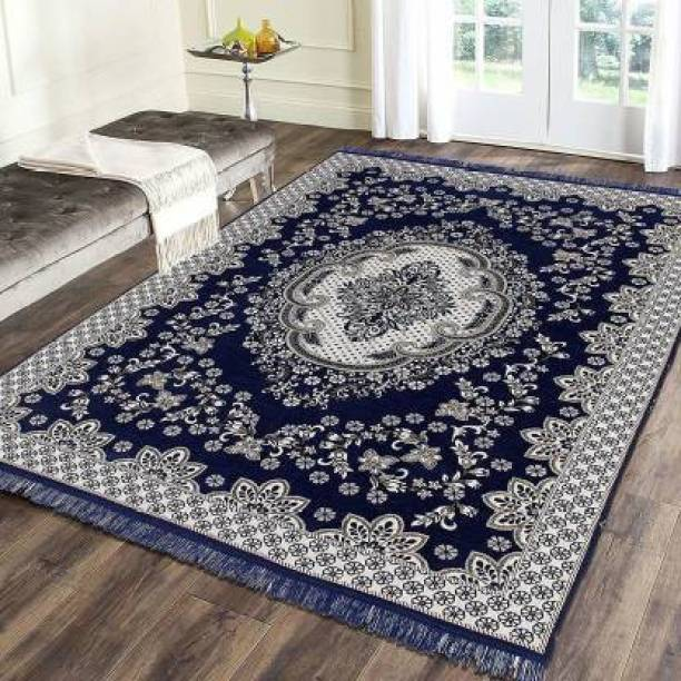 THE FRESH LIVERY Dark Blue Cotton Carpet