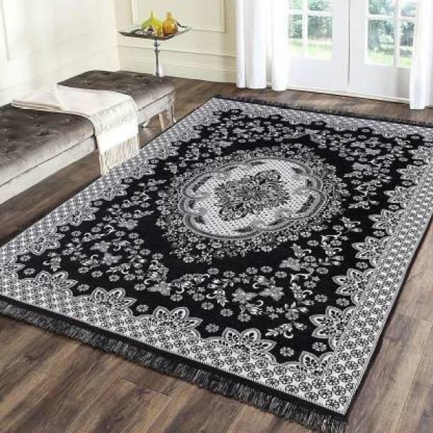 THE FRESH LIVERY Black Cotton Carpet