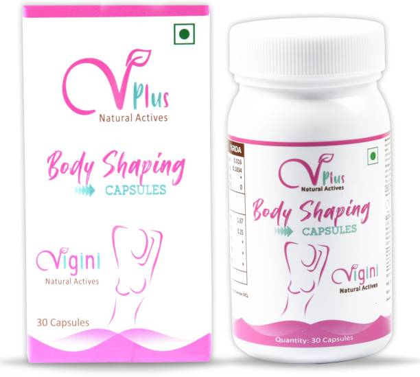 Vigini 100% Natural Actives Breast Bigger Enlargement Enhancement Tight Tightening Firming Increase Size Growth Body Shaping Anti Sagging Medicine Capsules for Girls Women Bust look Full Bt 36 Use with Gel Cream Oil Tablets Products