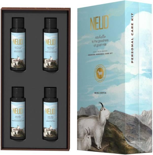 NEUD Goat Milk Premium Personal Care Kit for Men & Women - 100ml (25ml x 4 Nos.)