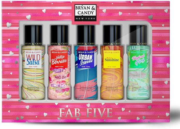 Bryan & Candy Fab Five Body Mist Duo (Pack of 5) Body Mist  -  For Women