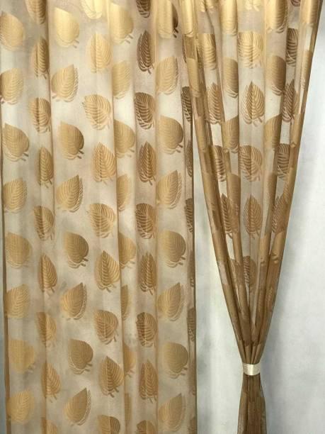 SB Textiles 213.36 cm (7 ft) Net Door Curtain (Pack Of 2)