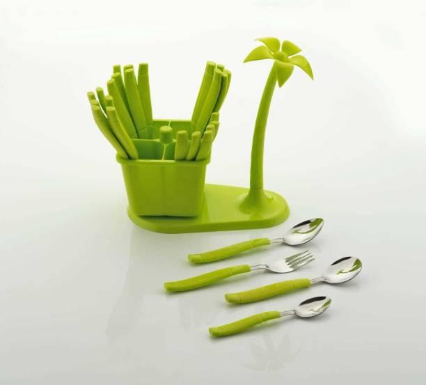 Shopixo Stainless Steel Vivo Geen 24 Disposable Stainless Steel Cutlery Set