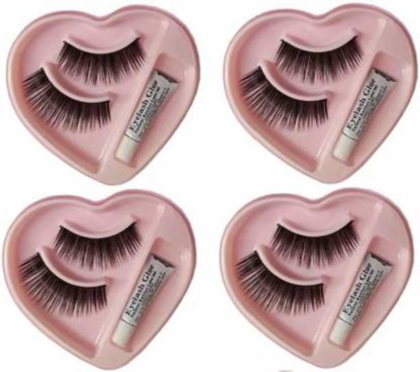 Smile N style Essentials Heart Shape False-Fake Eyelashes With Glue Set Natural