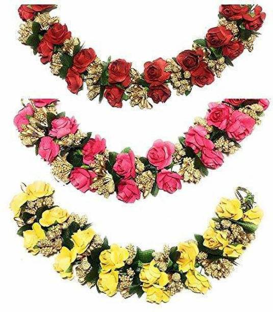 SP Flower Juda Gajra Bridal Hair Gajra for Women And Girls paper Bun Clip