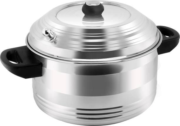 DEZEEN Stainless Steel 4-Plates Idly Cooker & Gas Stove Compatible Idli Maker/Idli Cooker Standard Idli Maker
