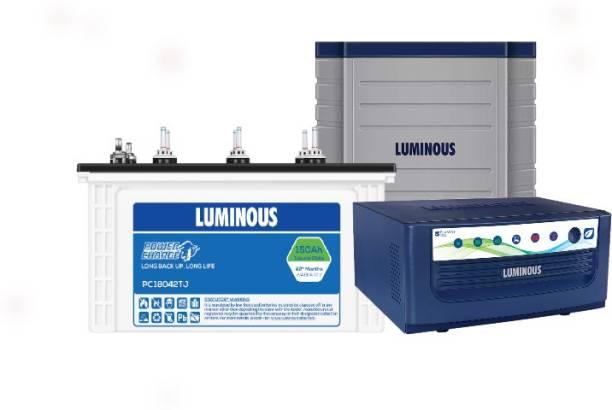 LUMINOUS EcoVolt Neo1050+PC18042TJ+Trolly Tubular Inverter Battery