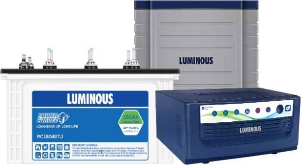 LUMINOUS EcoVolt850+PC18042TJ+Trolly Tubular Inverter Battery