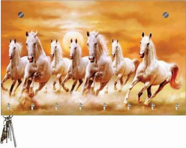 Craftmobile Keyholder Seven Horse key Holder Wood Key Holder