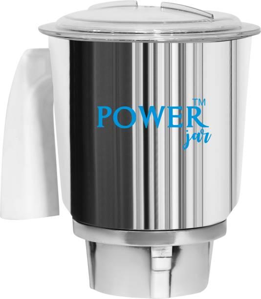 PowerJar Stainless Steel Mixer Jar r (1 Litre) Mixer Juicer Jar