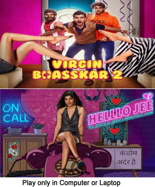 Virgin Bhasskar 2 & Hello Jee (2 web series) in Hindi it's DURN DATA DVD play only in computer or laptop it's not original without poster HD print quality