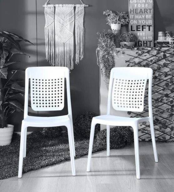ITALICA ( SHREE GANESH ONLINE ) original seller Work From Home Luxury Chair for Home and Office and dinning ( 2 years Warranty) Pack of 2 Plastic Outdoor Chair
