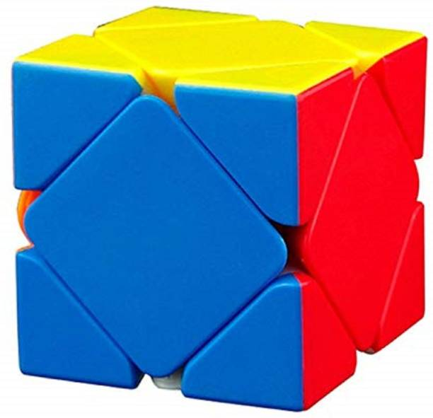Trade Globe High Speed Super Magic Cube Sticker less Puzzle Brainstorming Game Multicolor Toy Skweb Cube - Muti Color