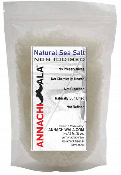 ANNACHIWALA Non Iodised Sea Salt 2500g Traditionally Made 100% Natural Sea Salt