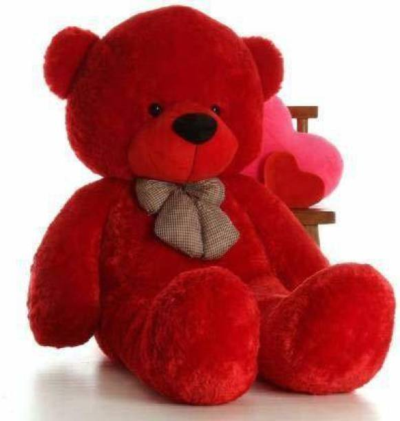 kartiktoys stuff toy 2 feet red teddy bear  - 60 cm