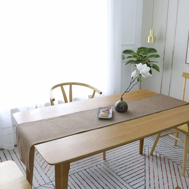 Sparrow world Beige, Brown 72 cm Table Runner