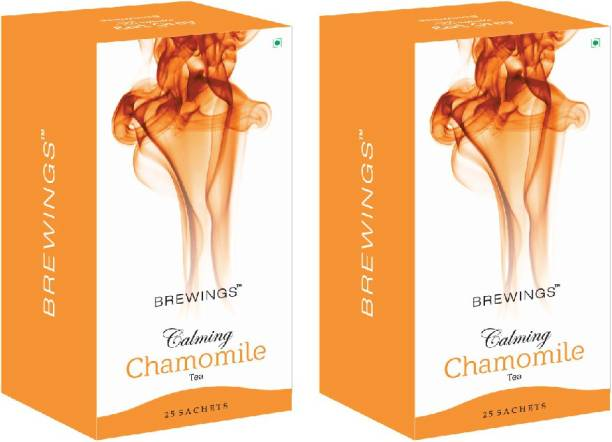 Brewings Calming Chamomile Tea with herbal infusion Chamomile Instant Tea Bags Box