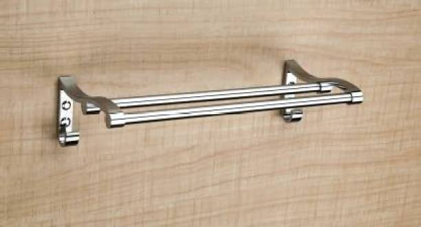 "Filox Stainless Steel Multi-use Rack / Bathroom Shelf / Kitchen Shelf / Bathroom Stand / Bathroom Rod / Bathroom Accessories Stainless Steel 18 "" TOWEL RACK Silver Towel Holder"