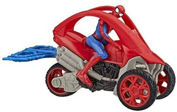 Spiderman Marvel Stunt Vehicle 6-Inch-Scale Super Hero Action Figure and Vehicle Toy Great Kids for Ages 4 and Up