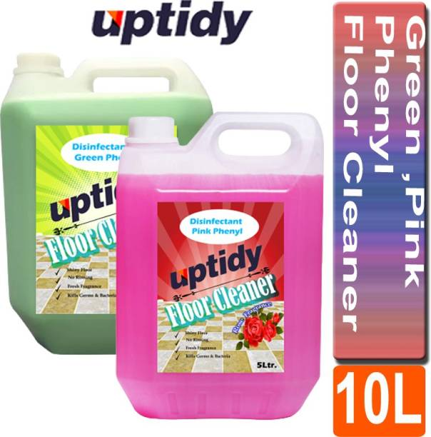 Up tidy Green& Pink Phenyl Disinfectant, Bathroom Cleaner Neem & Rose Fragrance ( pack of 2) Multi