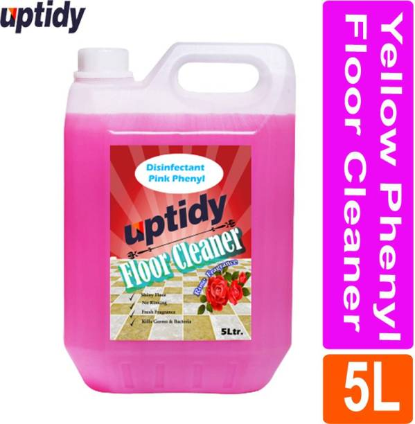 Up tidy Pink Phenyl Disinfectant, Bathroom Cleaner with Rose Fragrance Rose
