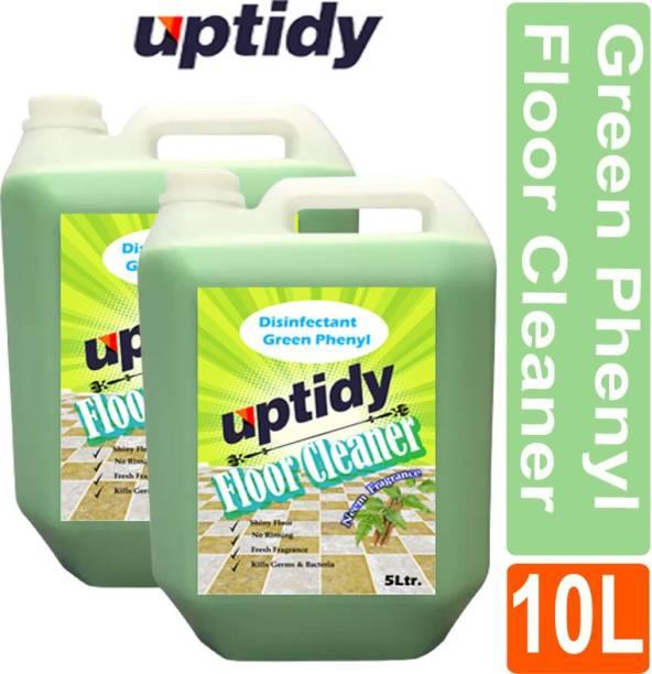 Up tidy Green Phenyl Disinfectant, Bathroom Cleaner Neem Fragrance ( pack of 2) Neem