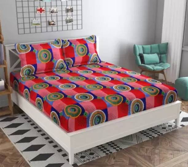 LeafEagle 144 TC Polycotton Double Printed Bedsheet