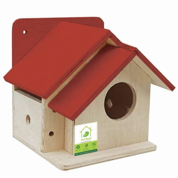 PetNest Bird House Nest Box for Sparrow Best Return Gift for Kids- DECO17 Bird House