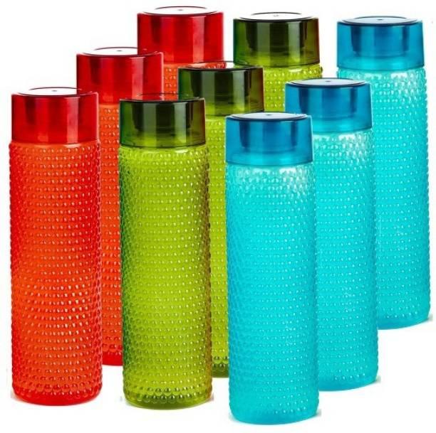USPECH Fridge Sports Bottle For College School Office Set Of 9 Bottle 1000 ml Bottle 1000 ml Bottle