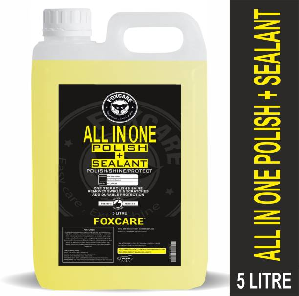 FOXCARE Liquid Car Polish for Exterior, Dashboard, Metal Parts, Tyres, Chrome Accent, Headlight, Leather