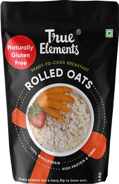 True Elements Rolled Oats, High Protein and Fibre Breakfast