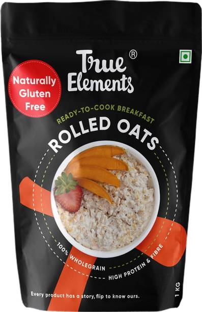 True Elements Rolled Oats, High Protein & Fibre, Ready to Cook Breakfast, 100% Wholegrain