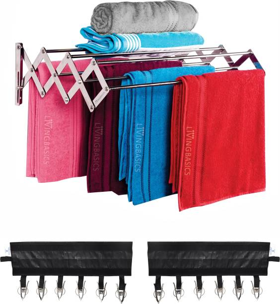 LivingBasics Steel Wall Cloth Dryer Stand LBCD_0012