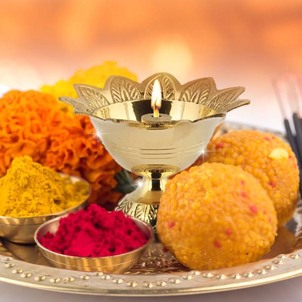 Shubhkart Devdas Deep Brass Table Diya