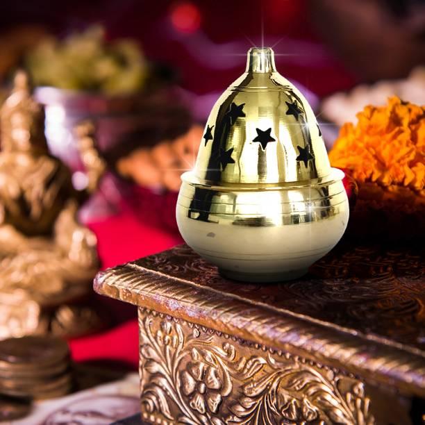 Shubhkart Kuber Goblet Brass Table Diya
