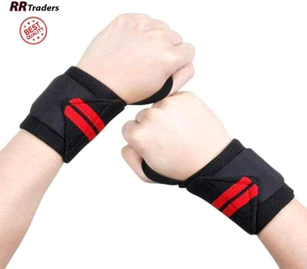 RRTraders Wrist Wraps for Gym, and Crossfit - Wrist Support Band for Men and Women - Pair Hand Grip/Fitness Grip