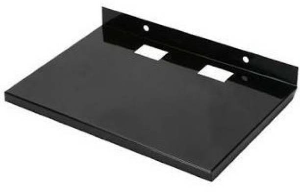 NIPRAM NATIONAL 25cm X 17cm Matt Black Set up box stand Shelf Iron Wall Shelf (Number of Shelves - 1, Black) TV Stand Base
