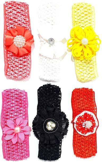 Fancyy fancy multi-coloured baby girl hairband headbands glitter elastic bow knot hair accessory set 6 PCS with gift box Head Band