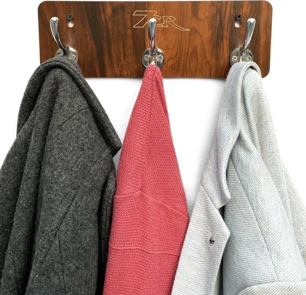 7CR Elephant Hook Coat Holder (WB)-3 Engineered Wood Coat and Umbrella Stand