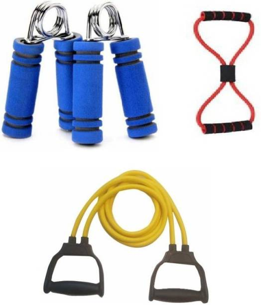 vyas Fitness grip Hand grip increase hand strength 1 Toning Tube Pull Rope Exerciser Rope And 1 Yoga Rubber Band For Fitness Gym & Fitness Kit