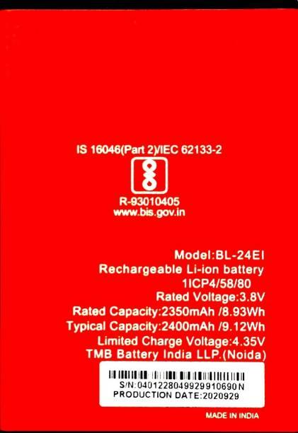 MATSV Mobile Battery For  Itel A-44 Pro/A-41/A 41 Plus/A-40/A-44/A-44 Air/A-46/iT 1508/iT 1508 Plus/L5502/L5503/BL-24Ei