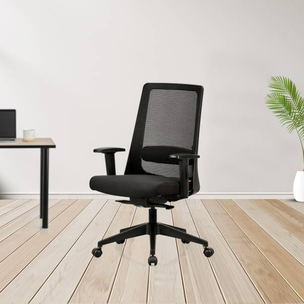 Featherlite Amaze MB Mesh Fabric Office Adjustable Arm Chair
