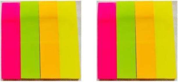izone 2 50 Sheets Neon Colour Paper Flags (Colour - Pink, Orange, Yellow,Green), 4 Colors