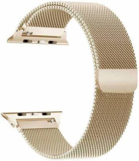 ICREATOR Milanese Watch Magnetic Stainless Steel Belt , IWatch Series 1 2 3 4 5 6 42/44 MM-GOLD Smart Watch Strap
