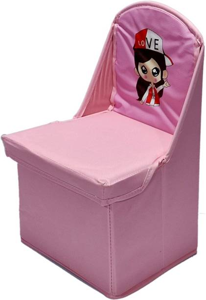 MS MODSTYLE Folding Storage Toy Box Seat chair for Kids Fabric Chair