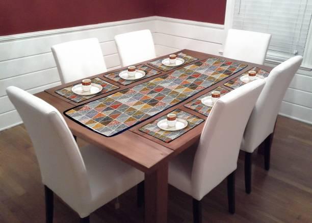 GLUCHIES Multicolor PVC Table Linen Set