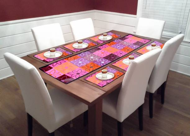 GLUCHIES Purple PVC Table Linen Set