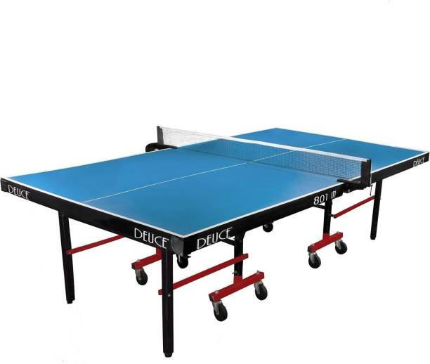 DEUCE 801 full size with 19mm Laminated Top, 38*38 mm Legs and 75 mm Wheels with Rollaway Indoor Table Tennis Table