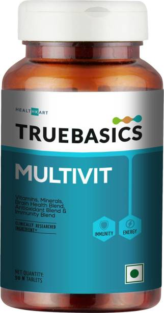 TrueBasics Multivit Daily, Multivitamins, Multiminerals for Men & Women,