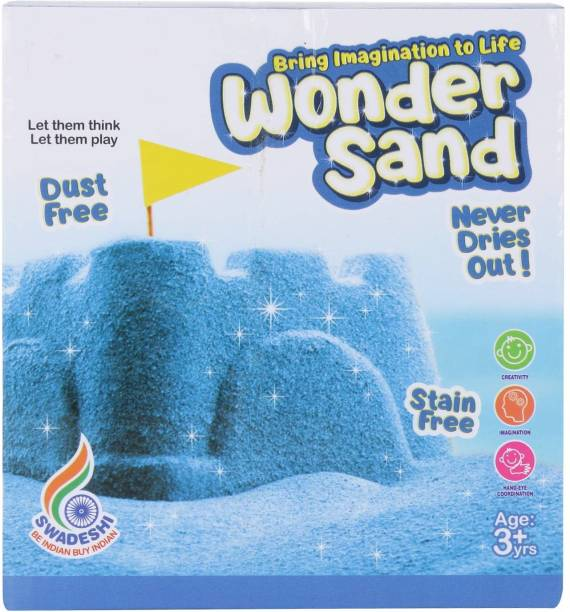 PEZYOX Blue Wonder Sand 500 Grams for Play. Smooth Sand for Kids
